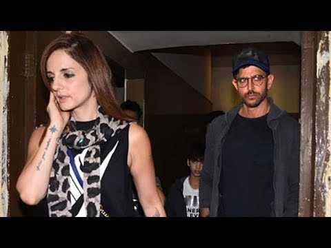 Hrithik Roshan With Ex Wife Sussanne Movie Date With Kids