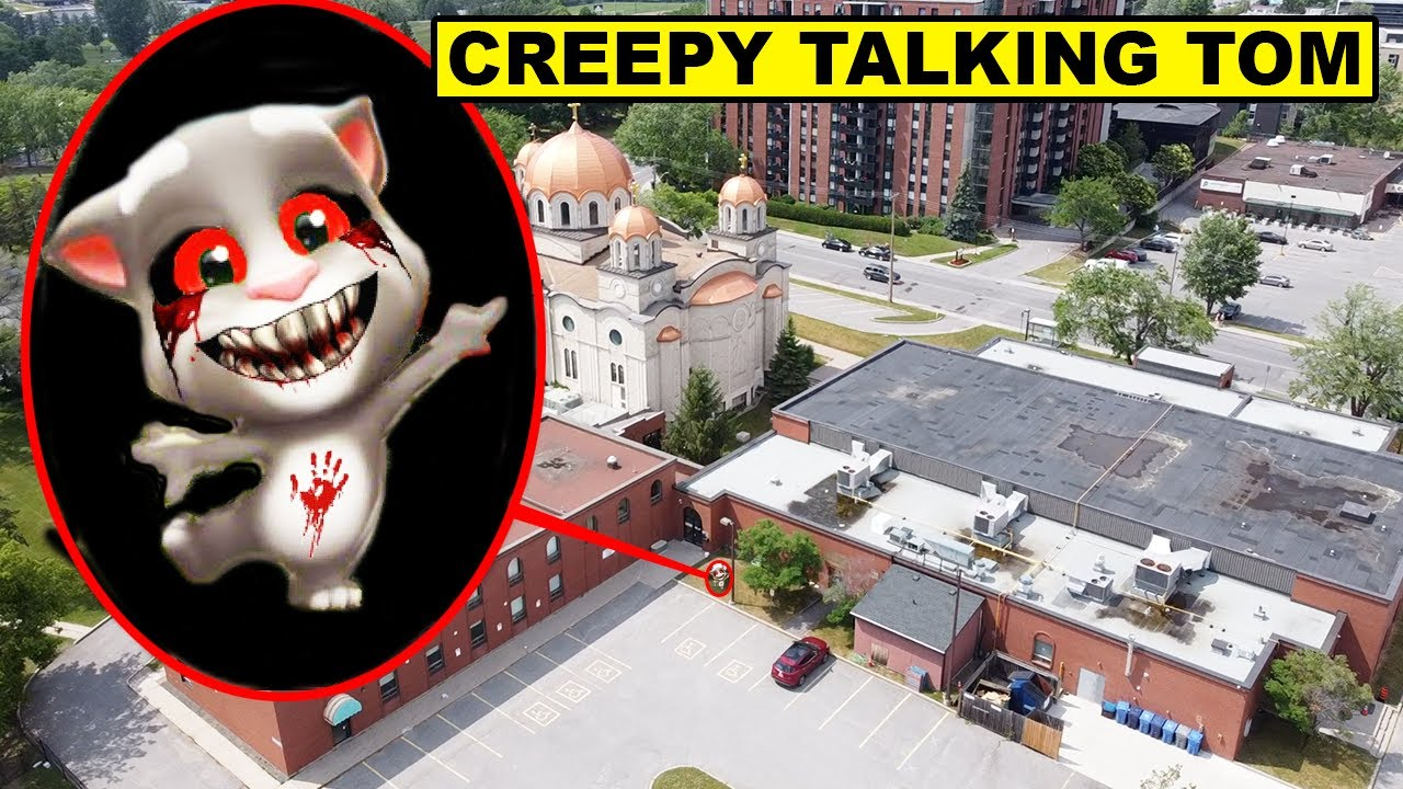 DRONE CATCHES CREEPY BABY TALKING TOM | IF YOU SEE CREEPY BABY TALKING TOM OUTSIDE OF YOUR HOUSE RUN
