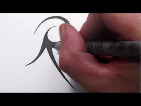How To Draw A Simple Tribal Letter R
