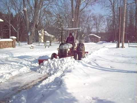 9n Ford Tractor >> Ford 9N Plowing Snow - YouTube