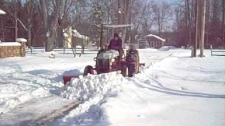 Ford 9N Plowing Snow