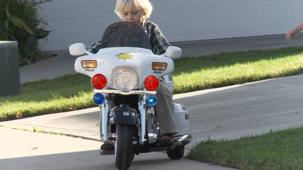 Police Motorcycle For Kids - YouTube