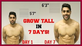 How To Grow Taller In 1 Week - THIS REALLY WORKS!