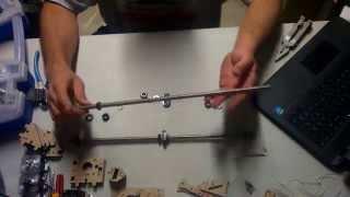geeetech prusa i3 pro b acrylic 3d printer assembly video step 1