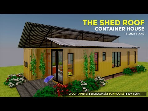 The Shed Roof Shipping Container 3 Bedroom House Design Floor Plans Shedbox 640 Youtube