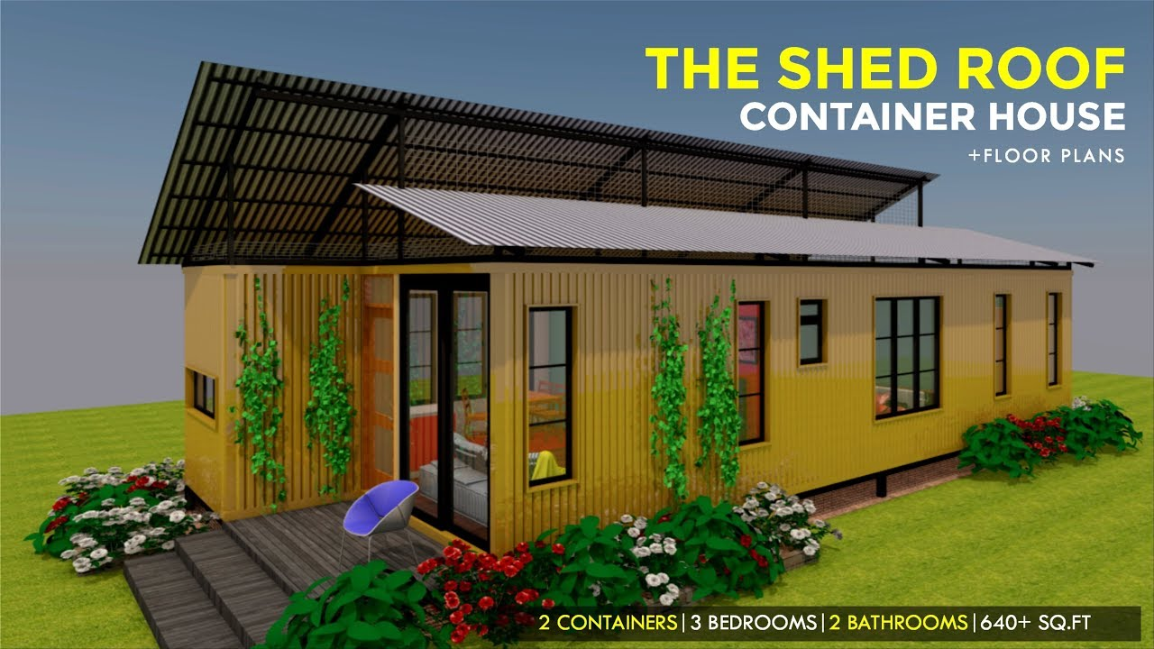 The Shed Roof Shipping Container 3