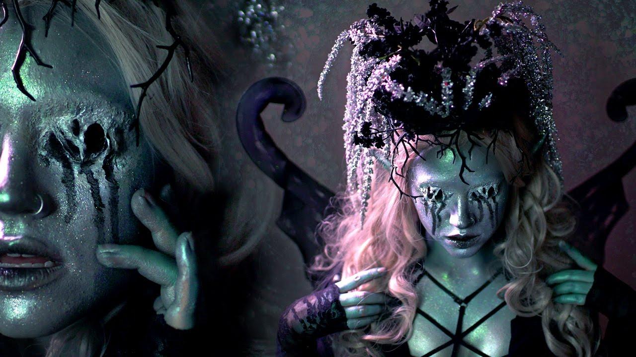 Dark fairy halloween makeup tutorial youtube.