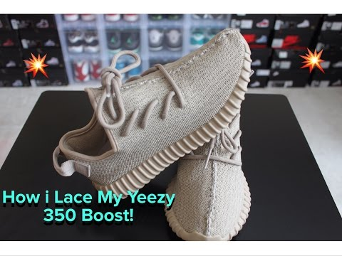 486e6340 How To Lace Yeezy 350 Boost!! - YouTube