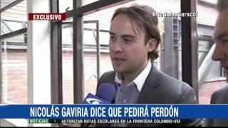 """""""Voy a hacer ese acto público"""": Nicolás Gaviria pedirá perdón a la Policía"""