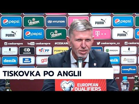 Tisková konference po zápase Česko - Anglie