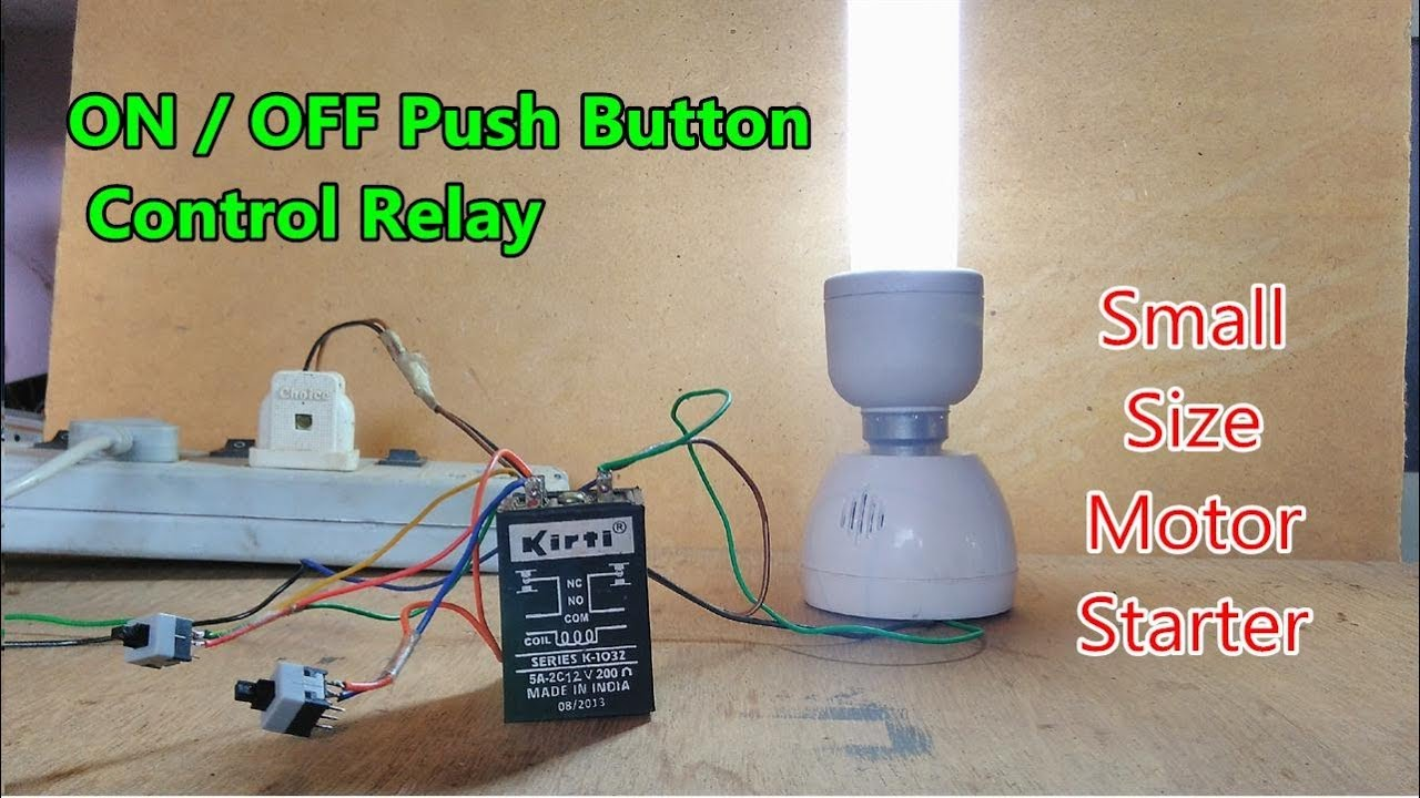 protective how to wire relay with push button on off control using 12v dc relay [ 1280 x 720 Pixel ]
