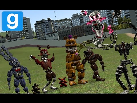 THE AMAZING FNAF 2 & 4 PILL PACKS | Garry's Mod