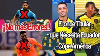 El Once titular de Ecuador para la Copa América 2021 • Desde el Inicio con Todo. Vídeo Colaborativo