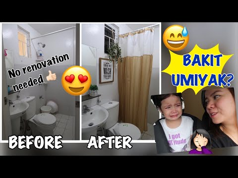MAKEOVER NATIN ANG BATHROOM + SOFA CLEANING | MommyNess