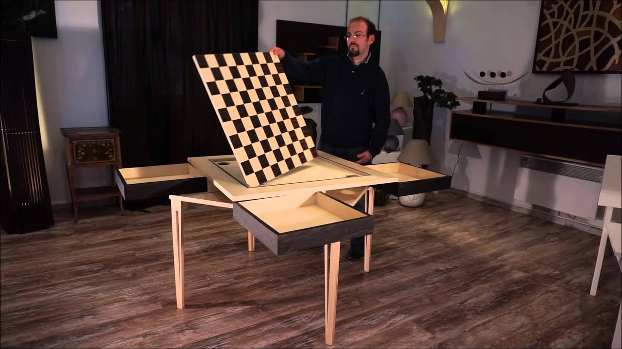 table a jeux magique youtube. Black Bedroom Furniture Sets. Home Design Ideas