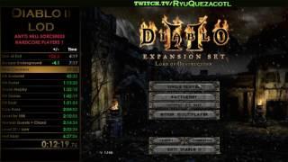 RyuQuezacotl - Diablo II Any% Hell HC Sorceress (RIP highlights) 19 08 2016