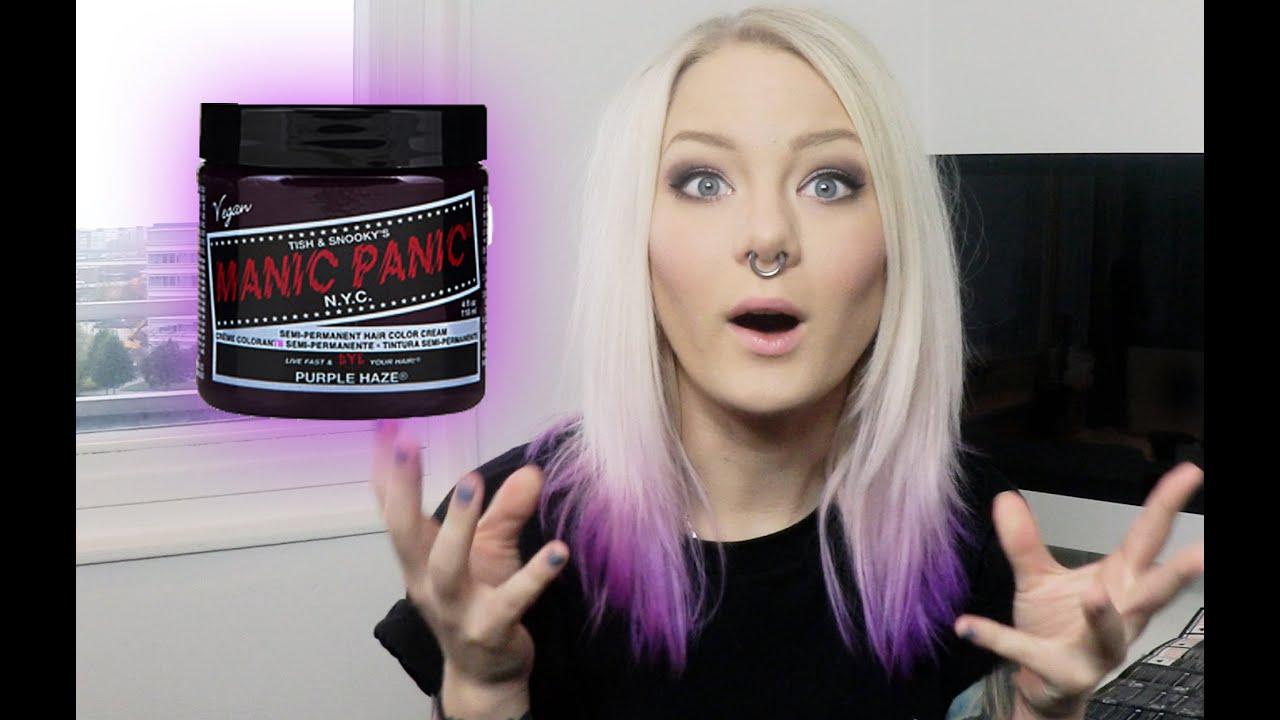 Manic Panic Purple Haze Dip Dye Katrin Berndt Youtube