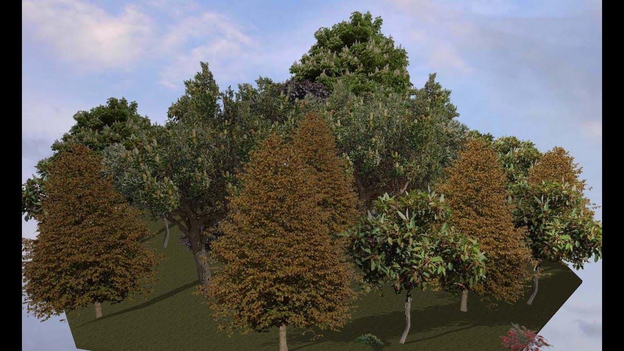 Как в архикаде сделать деревья 85