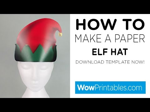 How To Make A Paper Elf Hat ( Printable Template )