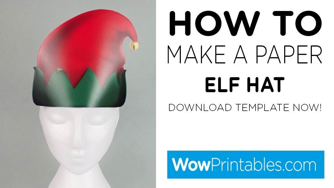 image regarding Elf Hat Printable identify How In direction of Generate A Paper Elf Hat ( Printable Template )