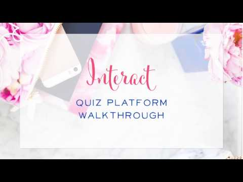 Interact Quiz Platform Walkthrough