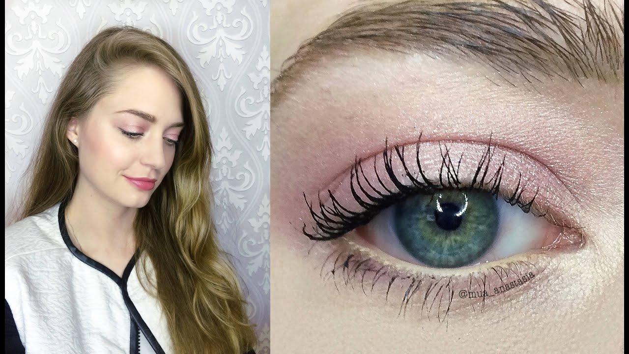 Дневной макияж для карих глаз. Фото и видео