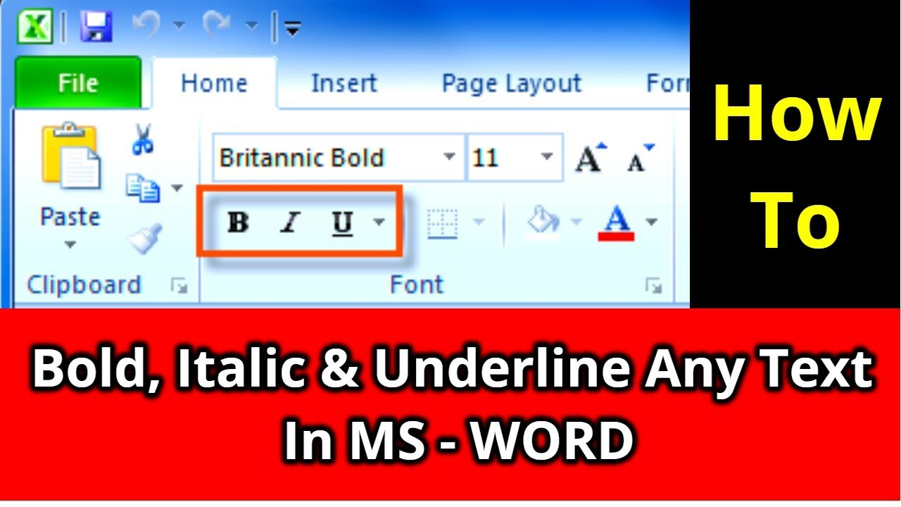 How to Bold Italic & underline any Text in Ms word | Free Computer Tutorial  in Hindi | 2018