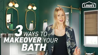 3 Ways to Makeover Your Bathroom (for $2500, $3500 or $7500) | Lowe's Design Basics