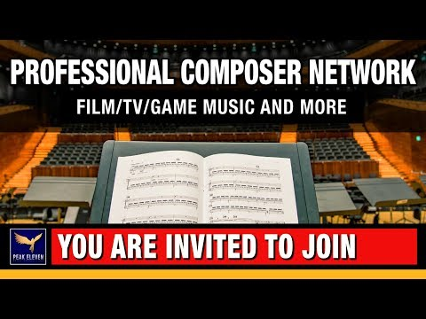 Professional Composer Network - Will You Apply? =)