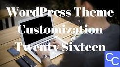 Wordpress Theme Customization - Twenty Sixteen