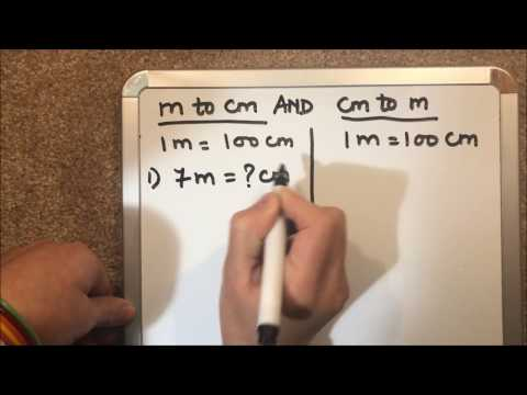 HOW TO CONVERT ( METER TO CENTIMETER ) AND (CENTIMETER TO METER )