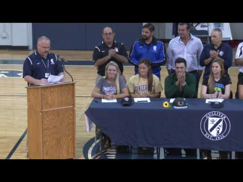 First Gulliver Prep National Letter of Intent Signing Day 2016-17