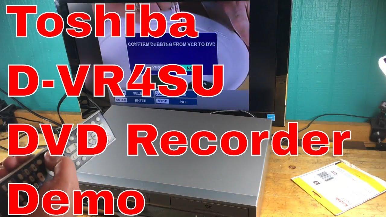 Toshiba d-vr4su manuals.