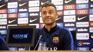 Rueda de prensa de Luis Enrique previa al Barça - Athletic (Copa)