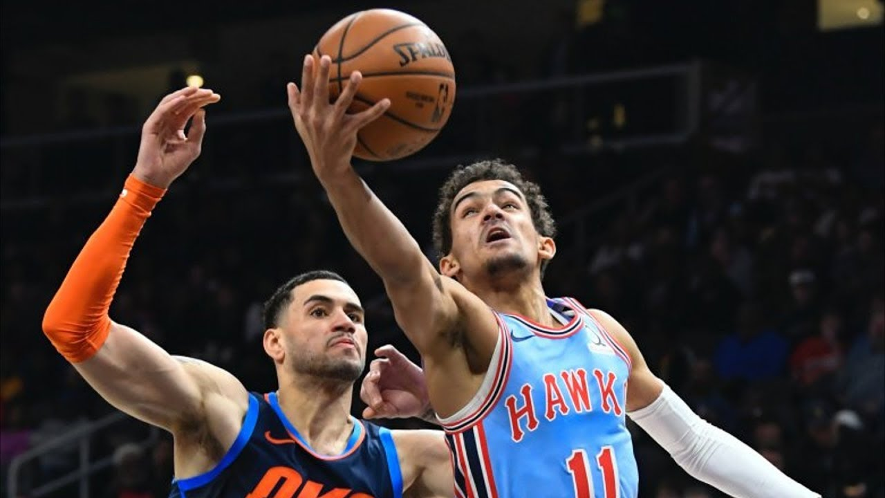 aaaf9e97a40 Trae Young Deep Clutch 3! Hawks Beat Thunder! 2018-19 NBA Season ...