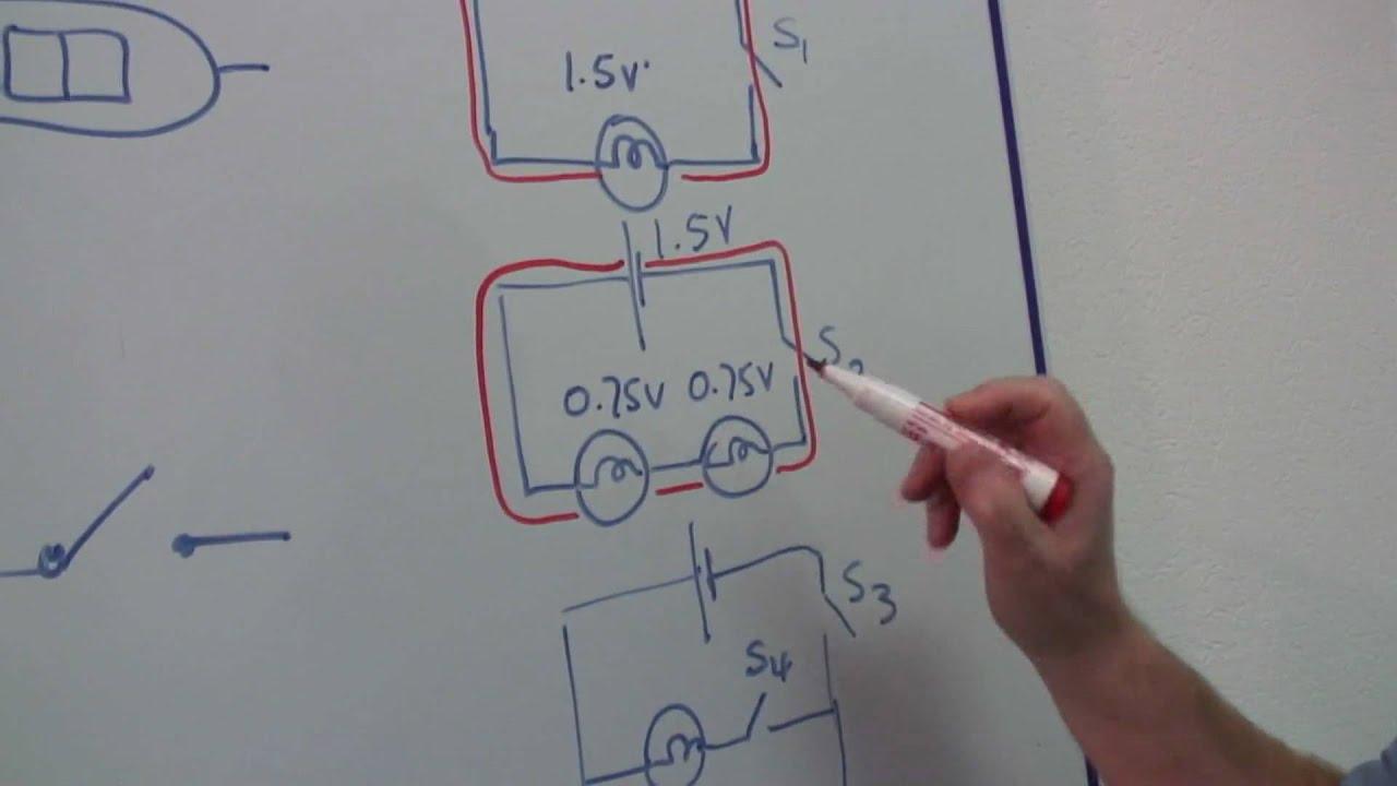 Physics Help : How to Build a Circuit Using Light Bulbs - YouTube