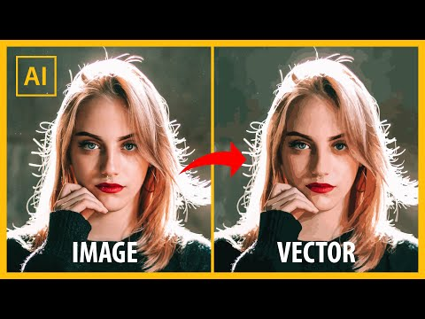 How to turn any image into vector - Adobe illustrator tutorial thumbnail