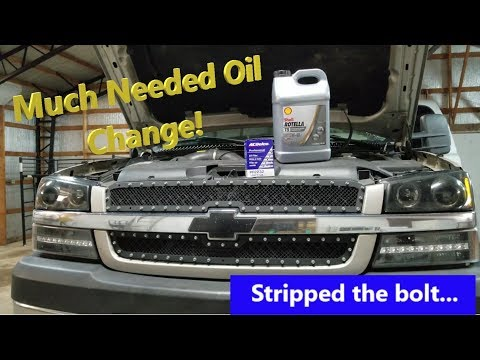 Duramax Oil Change... Rotella 15w40 Synthetic