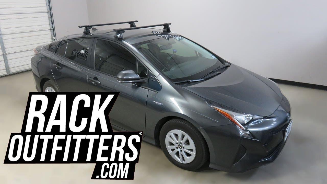 Toyota Prius With Yakima Baseline Corebar Roof Rack Crossbars Youtube