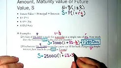 Finding Maturity Value