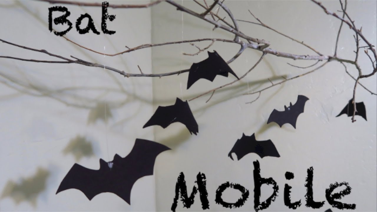 how to make a bat mobile halloween decoration!!! - youtube