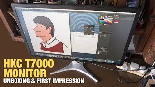Unboxing HKC T7000 Monitor and First Impression
