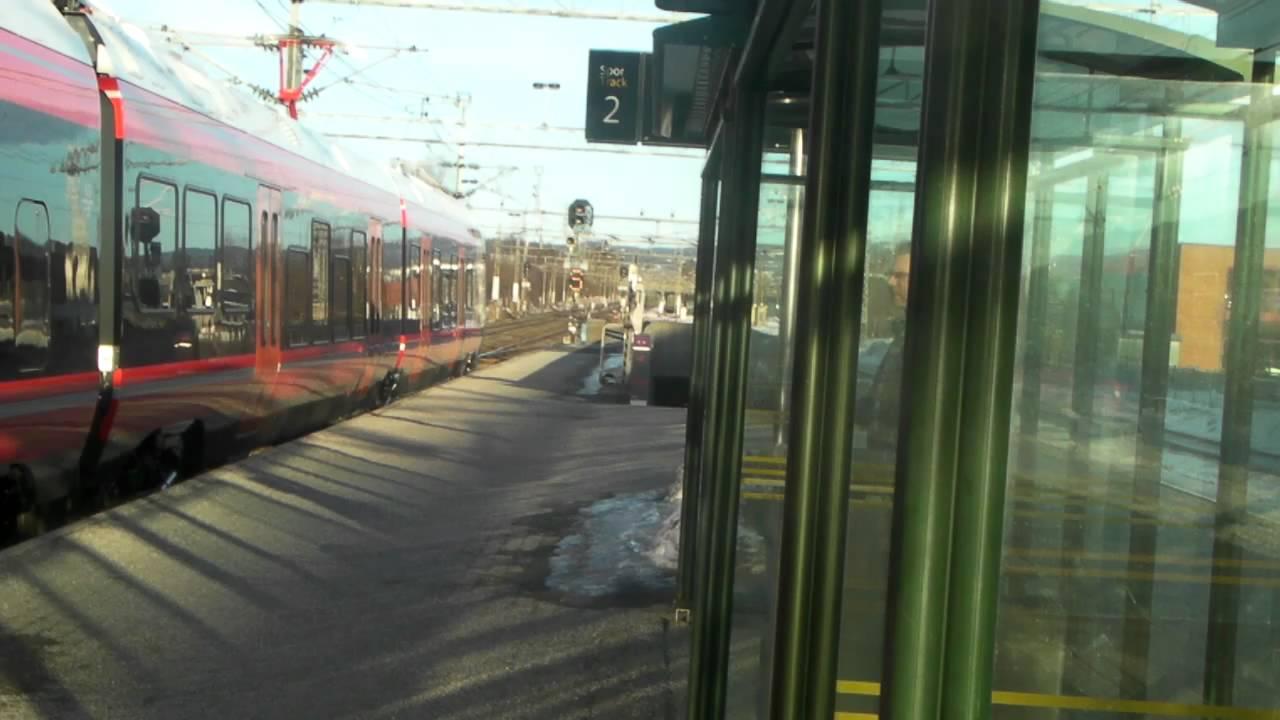 stadler flirt nsb 25072013, tjølling (vestfold) presentation of two flirt's on track sandefjord - larvik.