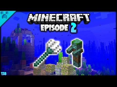 Minecraft Ruins & Sunken Cave!   Python's World (Minecraft Survival Let's Play S3 1.14)   Episode 2