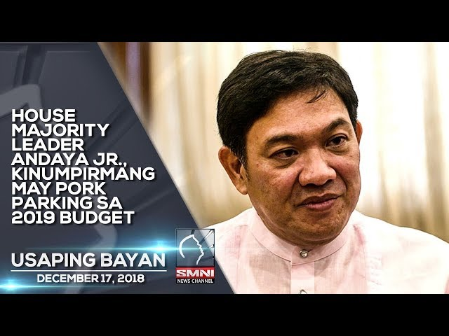 HOUSE MAJORITY LEADER ANDAYA JR , KINUMPIRMANG MAY PORK PARKING SA 2019 BUDGET