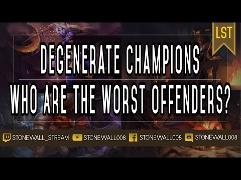 Degenerate Champions: Who Are The Worst Offenders?