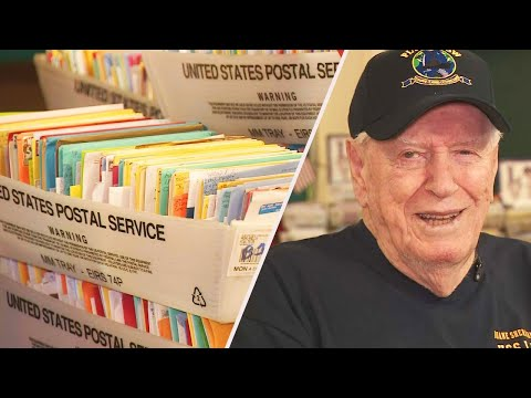 Adam Rivers - AWESOME: 96 year old WWII Vet gets 50,000 birthday cards