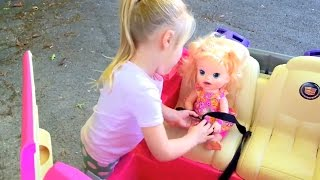 Pirate Ship Playground Park Playing with Baby Alive Snackin Sara Doll FUN FACTORY thumbnail
