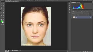 как изменить наклон губ в Adobe Photoshop CS6