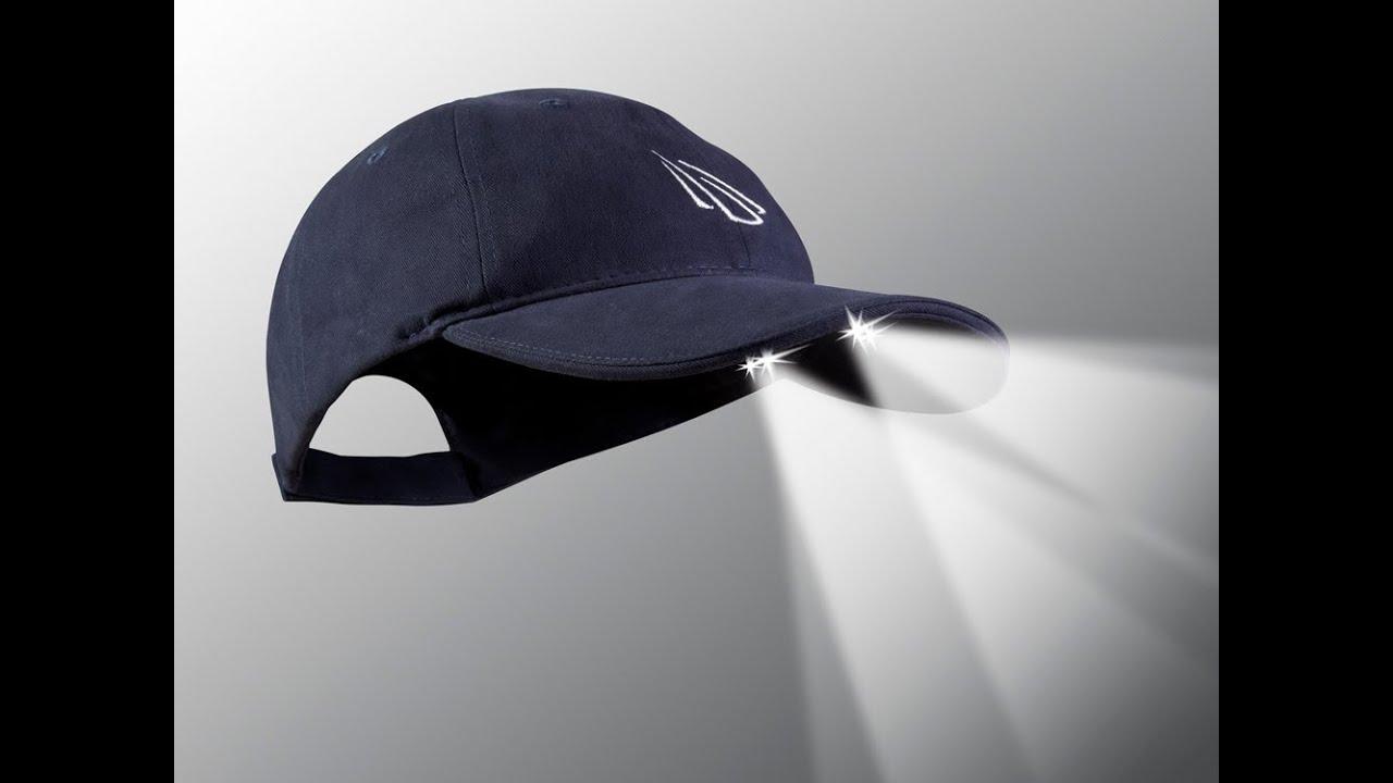PowerCap - LED Lighted Cap - YouTube 6a0744689450